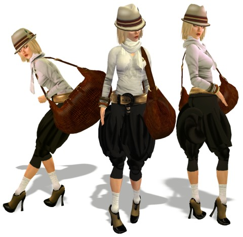Fat pants-3 girls