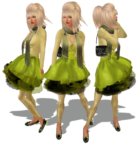 Three girls green