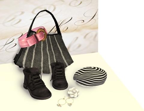 accessories black velvet and white camelias